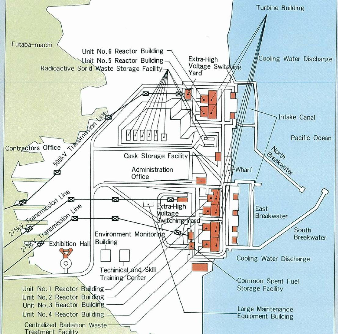 Plant Site Map Examples: Technical Documents Fukushima Daiichi