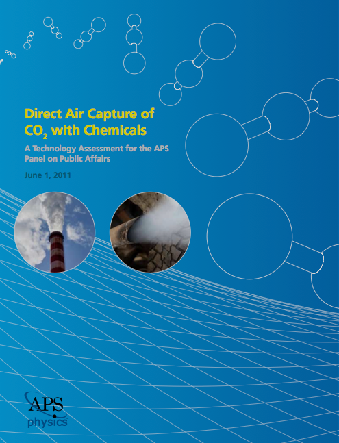Graphic – cover of the APS report, with link